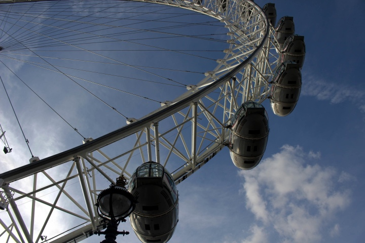 Seeing the London Eye solo.
